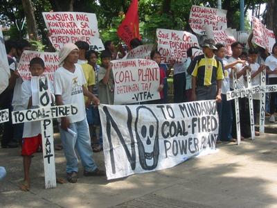 JBICが融資したフィリピン・ミンダナオ石炭火力発電事業に反対する地元住民