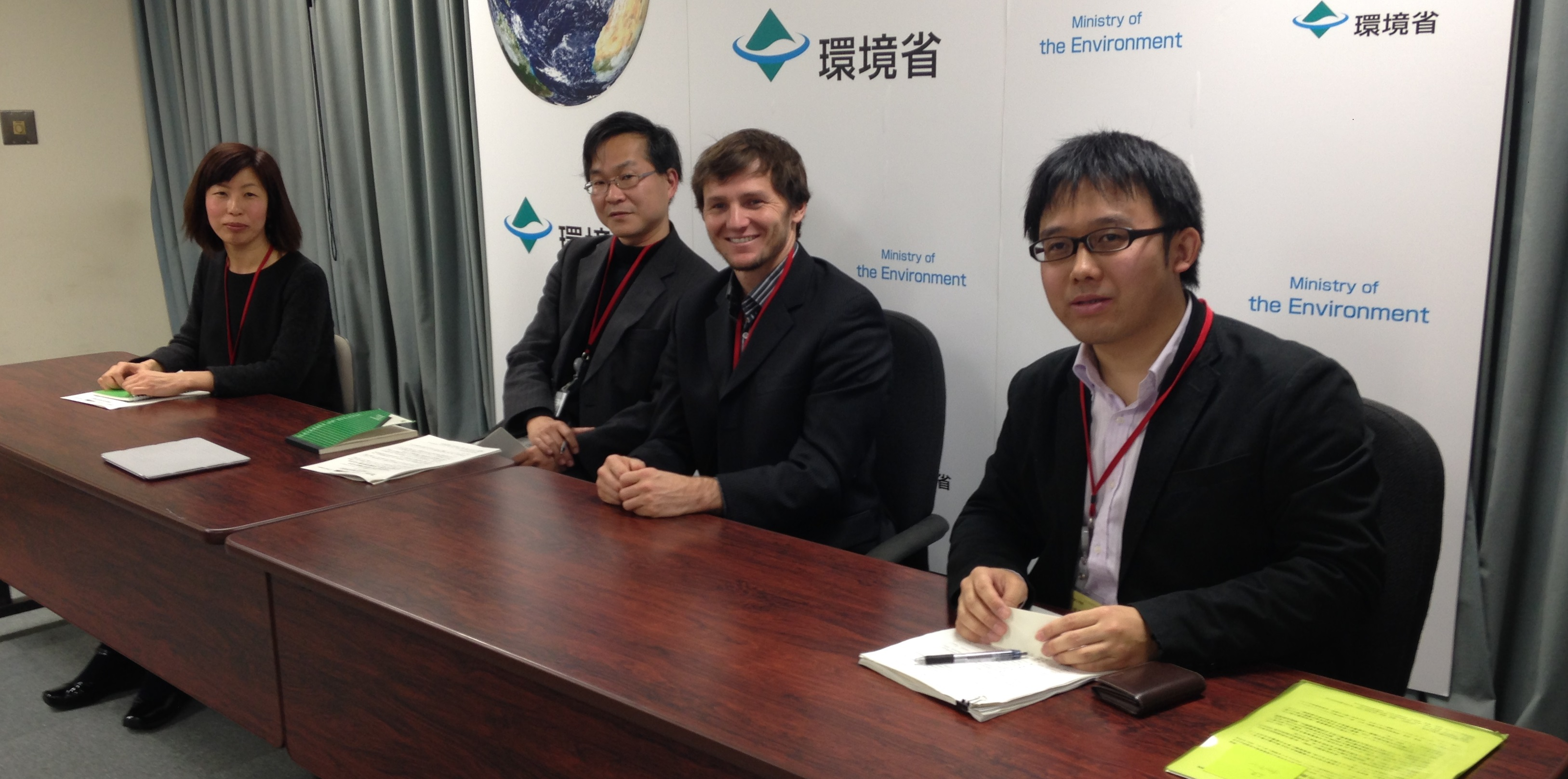 Press Conference (From L to R: Kimiko Hirata, Yuri Onodera, Justin Guay, Yuki Tanabe), February 3rd, 2014