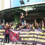 インドネシア・北カリマンタン州マリナウ炭鉱 JBIC融資停止を求める抗議アクション