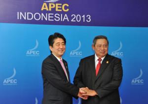 Prime Minister Abe with President Susilo Bambang Yudhoyono