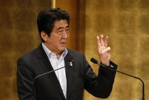 PM Shinzo Abe talks
