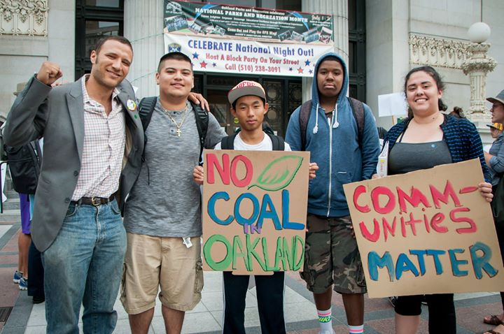 Campaign by Oakland residents against the export of coal to Japan